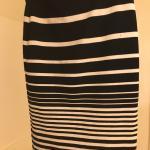 Striped body con skirt