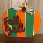 """Fall Y'all"" Wooden Pumpkin"