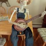 Halloween Banjo Playing Skeleton