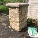 brick face concrete post