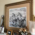 horse picture and frame