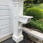 pvc mailbox holder and post