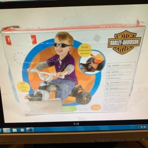 Photo of  Harley Davidson perfect for toddler. come on you need someone to ride with you.