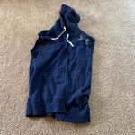Men's Navy Under Armor Size Large Hooded Vesr