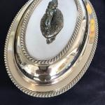 Antique silver plated server.