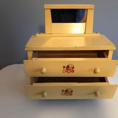 Photo of 3 Piece Vintage 1940-1950s Doll Dresser Set--Hard to Find Complete Set--NICE!