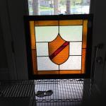 Vintage Antiques Stain Glass Framed ready time hang