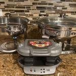 2 Chafing Dishes and Egg McMuffin Maker