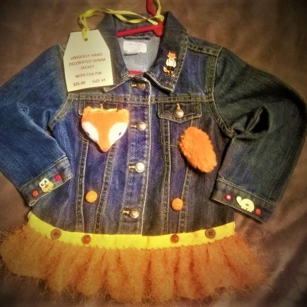 Photo of Little Girls Decorated Denim Jackets