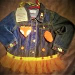 Little Girls Decorated Denim Jackets