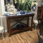 All Wood Sofa Table or Side Table With Glass top