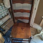 4 Antique Sturdy Ladderback Chairs