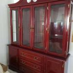 China cabinet  for dining room  in very good condition .