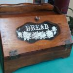 Vintage Wood & Glass Country Farm Kitchen Bread Box