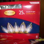 Holiday Lights, 25CT. C9 Smooth, Clear
