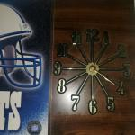 Colts 2000 official licensed wood frame photo file clock works great $20 firm