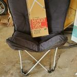 Memory foam fold out chair
