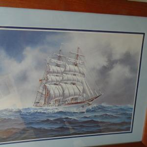 Photo of Framed print of a tall ship