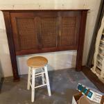 Full wooden headboard