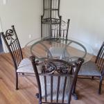 Glass dining table set (with hutch)
