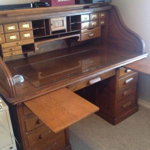 Photo of Excellent antique rolltop desk