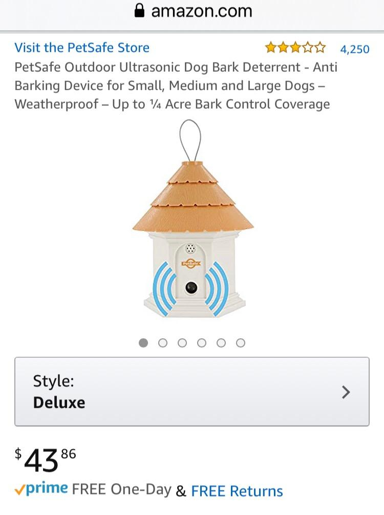 Photo 3 of PetSafe outdoor ultrasonic dog bark deterrent