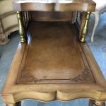 leather topped side table