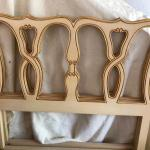 twin size headboard with rails