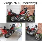 Yamaha Virago 750 Motorcycle And Protective Gear Sale