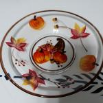 Fall 7 inch Etched Glass Plate