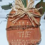 Wooden 11 inch Harvest Pumpkin sign