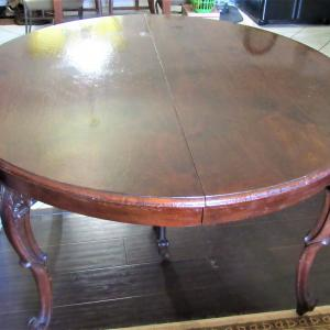 Photo of 100 year old Dining room table