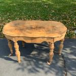 Unfinished antique coffee table