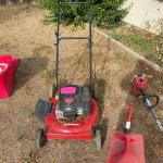 Lawnmower, with Weed Wacker and supplies