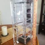 Clear Acrylic Locking Rotating Display Case