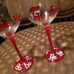 Christmas Handpainted Stemware  (2)