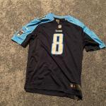 Men's Size Large  NFL Titans  Mariota Navy Nike Jersey