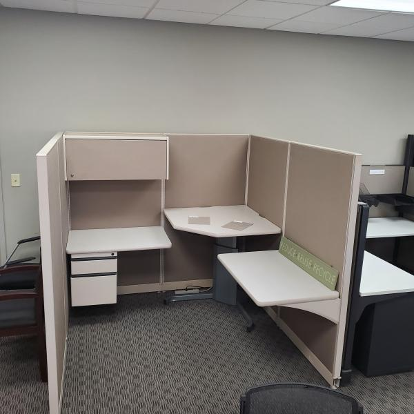 Photo of 6x6 Trendway workstations with sit to stand