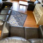 Three piece sofa sectional set