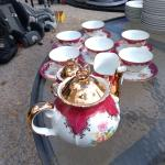 6 Cup Coffee Set - Gold Trim