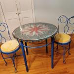 Handcrafted Bistro Table With Two Chairs