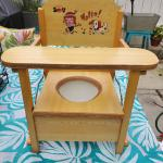 Vintage Baby's Wooden Potty Seat