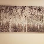 Abstract canvas of trees