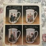 Collection Mug (Cup) Set by Norman Rockwell ( 4 )
