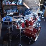 Drum set complete.older set .plays well
