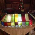 Vintage stain glass lamp