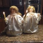 Set of 2 angels with lights