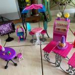 Monster High Furniture Sets, Activity Block, Chair, Bead Roller Coaster