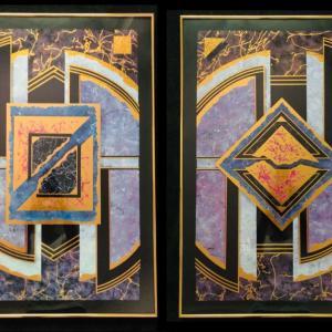 Photo of Art Deco Gold Framed Art