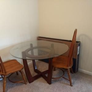 Photo of Wooden Dinning table with 2 chairs